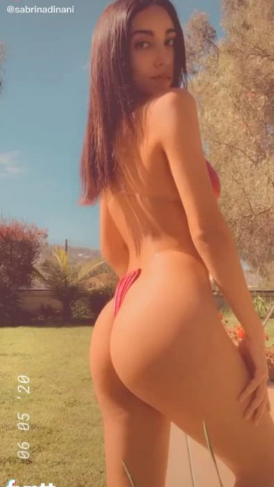 Sexy Latina TikTok ass in tiny bikini