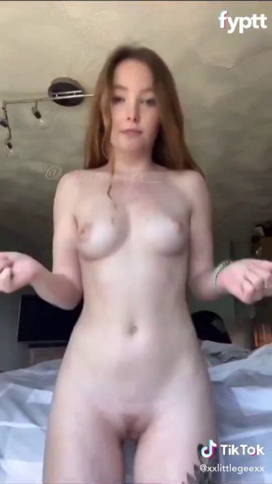 18 UK ginger doing 'New outfit change' NSFW TikTok challenge