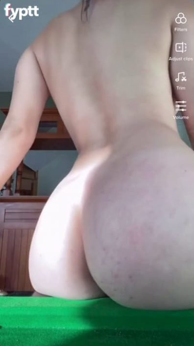 Young nude TikTok slut with super fine ass giving you a close up view