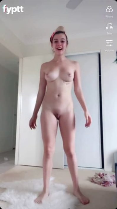 You could not take your eyes of her hot tits in this nude TikTok dance challenge